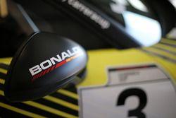 Dettaglio dello specchietto della Porsche 911 GT3 Cup di Simone Pellegrinelli, Bonaldi Motorsport
