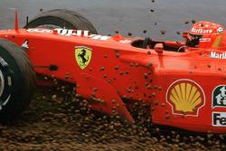 Michael Schumacher, Ferrari F1 2001 spins