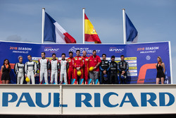 Podium: Race winners #24 Racing Engineering Oreca 07 - Gibson: Norman Nato, Olivier Pla, Paul Petit, second place #33 TDS Racing Oreca 07 - Gibson: Matthieu Vaxivière, François Perrodo, Loic Duval, third place #29 Duqueine Engineering Oreca 07 - Gibson: Pierre Ragues, Nicolas Jamin, Nelson Panciatici