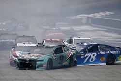 Chase Elliott, Hendrick Motorsports, Chevrolet Camaro Mountain Dew Baja Blast Martin Truex Jr., Furniture Row Racing, Toyota Camry Auto-Owners Insurance