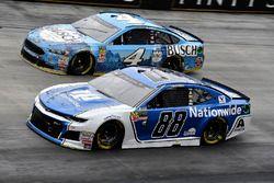 Alex Bowman, Hendrick Motorsports, Chevrolet Camaro Nationwide and Kevin Harvick, Stewart-Haas Racing, Ford Fusion Busch Beer