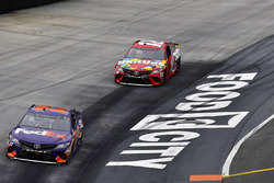 Denny Hamlin, Joe Gibbs Racing, Toyota Camry FedEx Freight and Kyle Busch, Joe Gibbs Racing, Toyota Camry Skittles