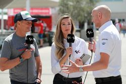 Kevin Schwantz, Amy Dargan, Matt Birt, Dorna TV presenters