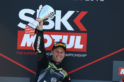 Podium: race winner Jonathan Rea, Kawasaki Racing