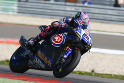 Alex Lowes, Pata Yamaha with worn tyre