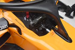Detalle del cockpit de l McLaren MCL33