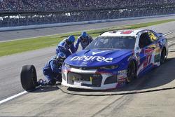 Chris Buescher, JTG Daugherty Racing, Chevrolet Camaro Degree, makes a pit stop
