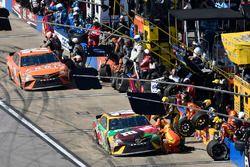 Kyle Busch, Joe Gibbs Racing, Toyota Camry M&M's Flavor Vote and Daniel Suarez, Joe Gibbs Racing, Toyota Camry ARRIS