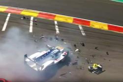 Pietro Fittipaldi, Dragonspeed BR Engineering BR1 sufre una fuerte accidente