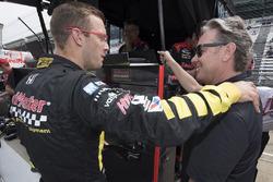 Sébastien Bourdaisavec le co-propriétaire de son équipe, Jimmy Vasser, Dale Coyne Racing with Vasser-Sullivan Honda