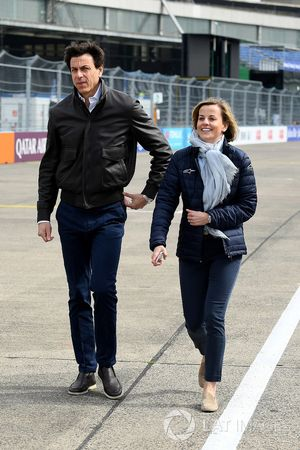 Toto Wolff, Executive Director, Mercedes AMG. with Susie Wolff, founder of Dare to be Different