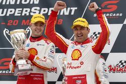 Podium: race winner Fabian Coulthard, DJR Team Penske Ford, third place Scott McLaughlin, DJR Team Penske Ford