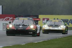 #96 Pfaff Motorsports Porsche 911 GT3 R: Scott Hargrove, #24 Alegra Motorsports Porsche 911 GT3 R: Michael Christensen
