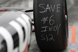 Robert Wickens, Schmidt Peterson Motorsports Honda, tires
