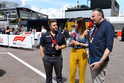 Davide Valsecchi, Sky Italia and Federica Masolin, Sky Italia Presenter