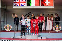 Podium : Lando Norris, Carlin, Antonio Fuoco, Charouz Racing System, Louis Deletraz, Charouz Racing System