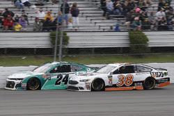 William Byron, Hendrick Motorsports, Chevrolet Camaro Unifirst and David Ragan, Front Row Motorsports, Ford Fusion MDS Transport