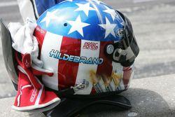 Casque de J.R. Hildebrand, Ed Carpenter Racing Chevrolet
