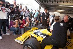 Jean-Pierre Jabouille avec sa Renault F1