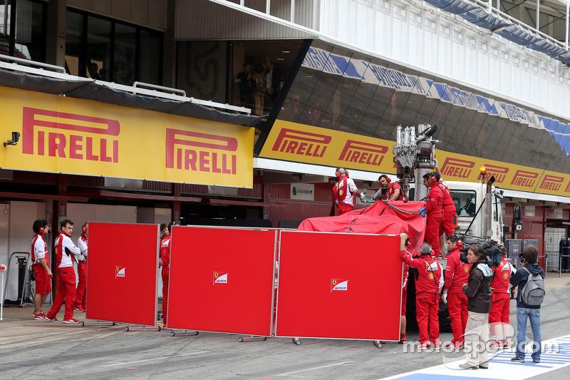 Kimi Räikkönen, Scuderia Ferrari, Auto auf dem Truck