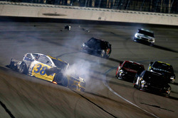 David Gilliland, Front Row Motorsports Ford : Gros crash