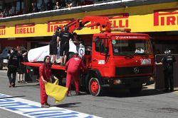 Daniel Juncadella, Sahara Force India F1 Team Test and Reserve Driver returned to pits