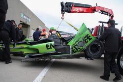Jack Hawksworth撞坏的赛车, Bryan Herta本田车队