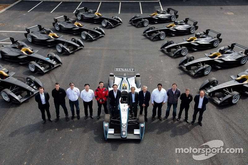 Los 11 autos Spark-Renault STR_01E