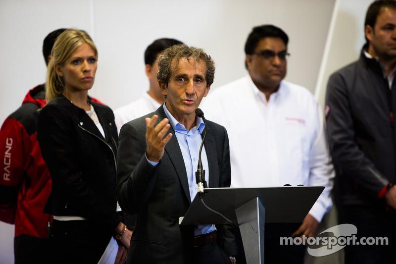 Alain Prost during the presentation of the Formula E headquarters