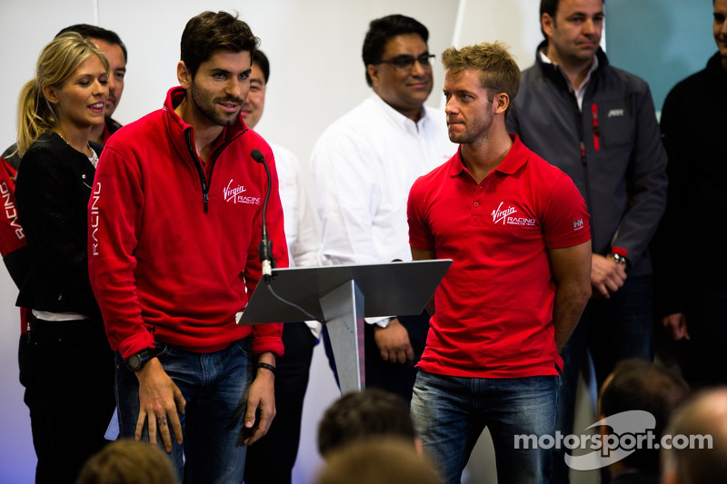 Drivers Jaime Alguersuari and Sam Bird