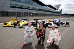 Derek Warwick, Romain Grosjean and Damon Hill
