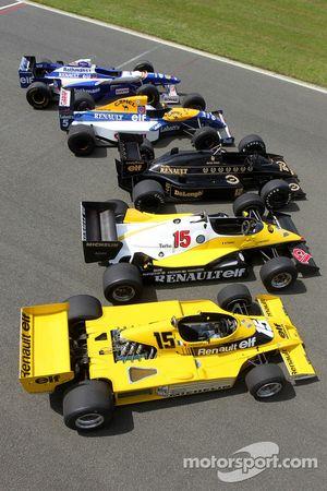 Autos clásicos de Fórmula 1 de Renault Sport