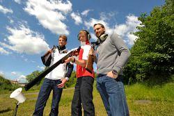 Маттиас Экстрем, Гэри Паффет и Марко Виттман. Ошерслебен, пятничная тренировка.