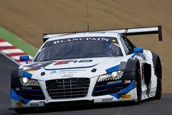 #5 Phoenix Racing Audi Club Team WRT Audi R8 LMS Ultra: Alessandro Latif, Marc Basseng