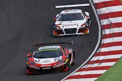 #60 Bhaitech McLaren MP4-12C: Fabio Onidi, Giorgio Pantano and #6 Phoenix Racing Audi Club Team WRT