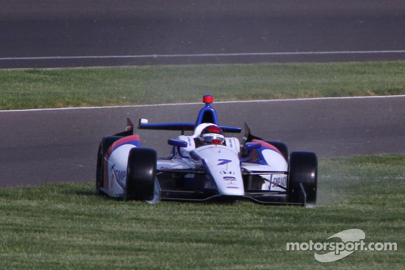 Problemi per Mikhail Aleshin, Schmidt Peterson Hamilton Motorsports Honda