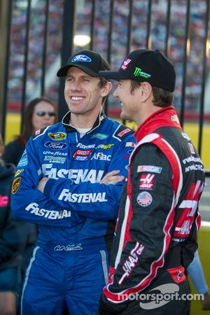 Carl Edwards and Kurt Busch
