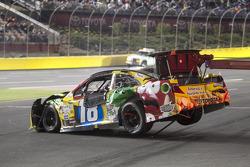 Crashed car of Kyle Busch, Joe Gibbs Racing Toyota