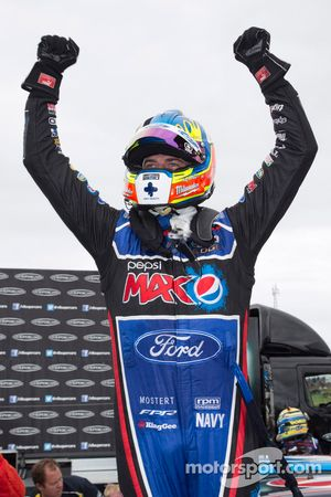 Race winner Chaz Mostert, Ford Performance Racing celebrates