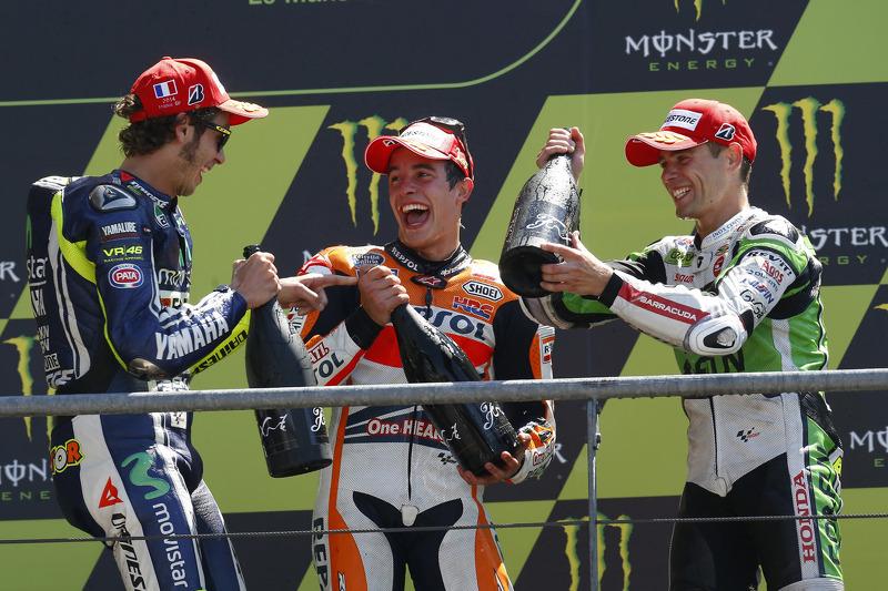 #11 Podium : Marc Márquez, Valentino Rossi, Álvaro Bautista