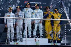 Podium: race winners Hari Proczyk, Jeroen Bleekemolen, second place Maximilian Buhk, Maximilian Götz