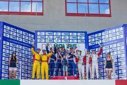 LM GTE podium: race winners Andrea Bertolini, Viktor Shaitar, Serguey Zlobin, Boris Rotenberg, secon