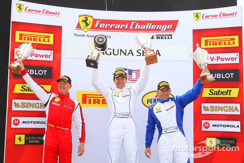 TP podio: vincitore della gara Harry Cheung, il secondo posto Ryan Ockey, terzo posto Henrik Hedman