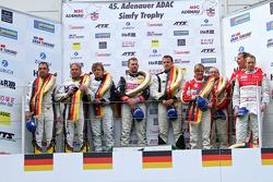 Podium: winners Lance David Arnold, Andreas Simonsen, Christian Menzel, second place Jorg Muller, Uw