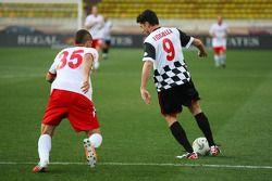 Giancarlo Fisichella alla partita di calcio di beneficenza