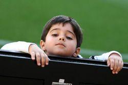 Felipinho Massa, son of Felipe Massa, Williams, at the charity football match