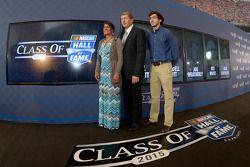 Bill Elliott avec sa femme Cindy et son fils Chase Elliott