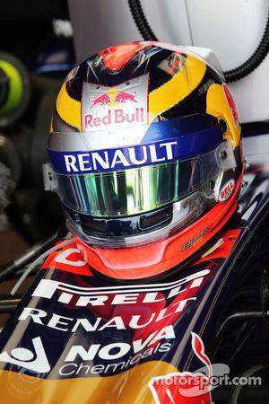 De helm van Jean-Eric Vergne, Scuderia Toro Rosso STR9