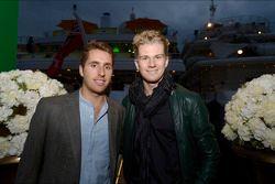 (Da sinistra a destra): Daniel Juncadella, Sahara Force India F1 Team tezo pilota con Nico Hulkenber