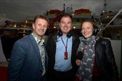 Allan McNish avec James Allen et Jennie Gow lors de la soirée Signature à Monaco
